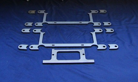 Front Laser Plates for SS 2 seat A Arms